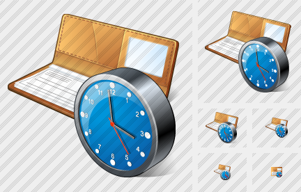 Check Book Clock Icon