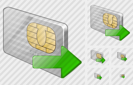 Chip Card Export Icon