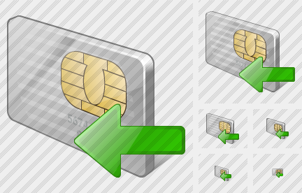 Chip Card Import Icon