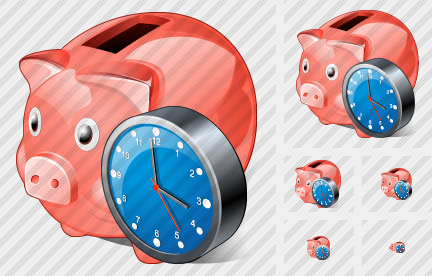 Icone Coin Box Clock