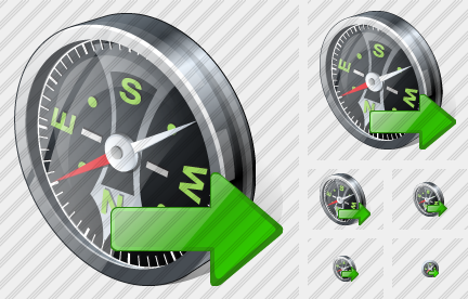 Compass Export Icon