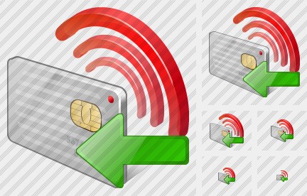 Contactless Chip Card Import Icon