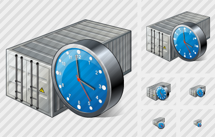 Container Clock Icon