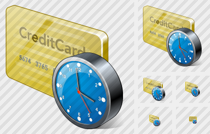 Icone Credit Card Clock