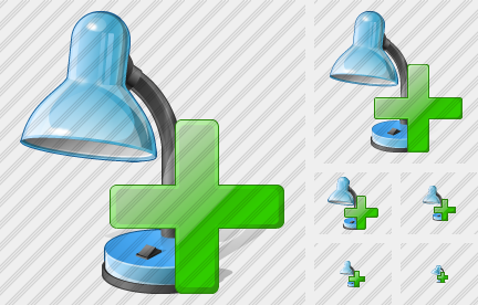 Desk Lamp Add Icon