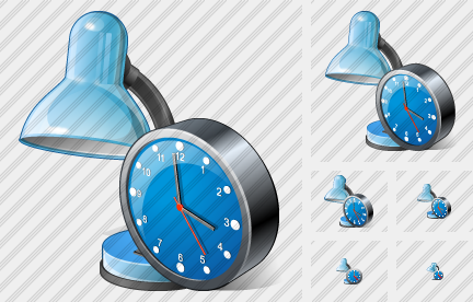 Desk Lamp Clock Icon