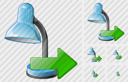 Desk Lamp Export Icon