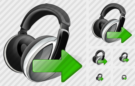 Ear Phone Export Icon