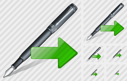 Feather Pen Export Icon