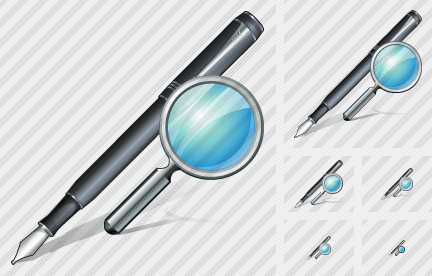 Feather Pen Search Icon