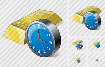 Icone Gold Clock