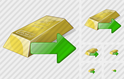 Gold Export Icon
