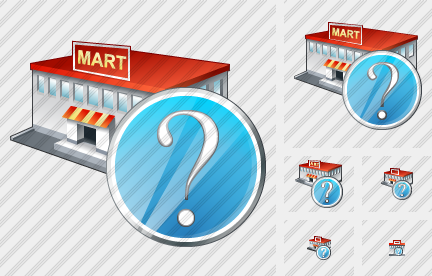 Grocery Shop Question Icon
