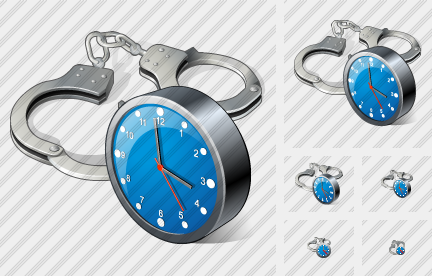 Handcuffs Clock Icon