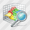 3D Graph Search Icon
