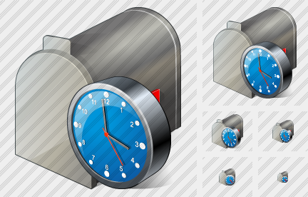 Mail Box Clock Icon