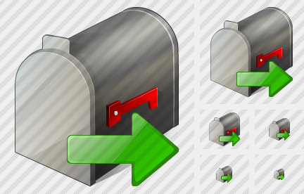 Icone Mail Box Export
