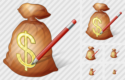 Money Bag Edit Icon