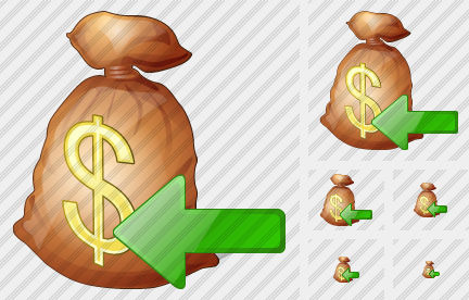 Money Bag Import Icon
