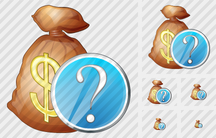 Money Bag Question Icon