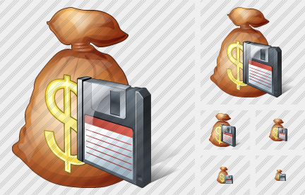 Money Bag Save Icon