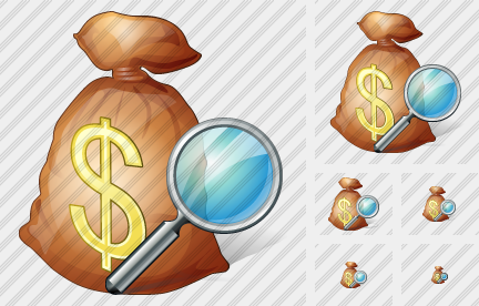 Money Bag Search Icon