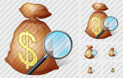 Money Bag Search 2 Icon