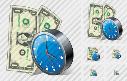 Money Clock Icon