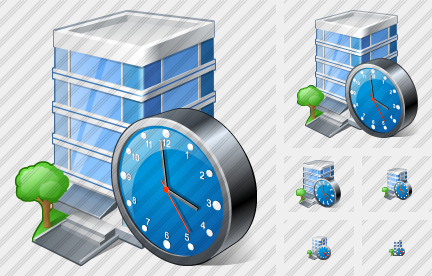 Office Building Clock Icon