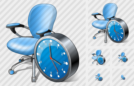 Office Chair Clock Icon