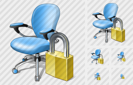 Office Chair Locked Icon
