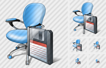 Office Chair Save Icon