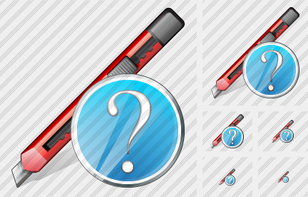 Office Knife Question Icon