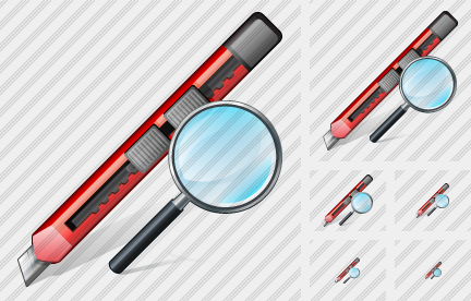 Office Knife Search 2 Icon