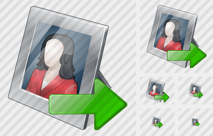 Photo Frame Export Icon