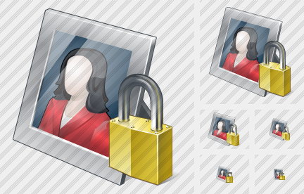 Photo Frame Locked Icon
