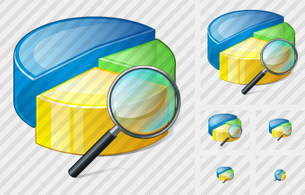 Pie Chart Search 2 Icon