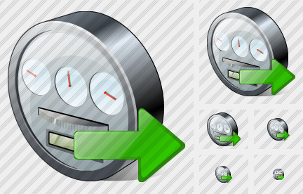 Power Meter Export Icon