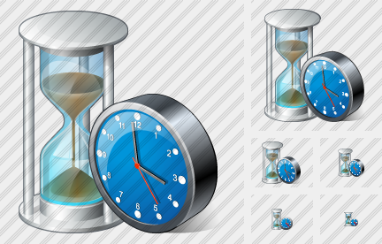 Sand Glass Clock Icon