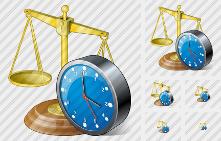 Scales Clock Icon