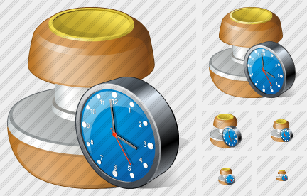Stamp Clock Icon