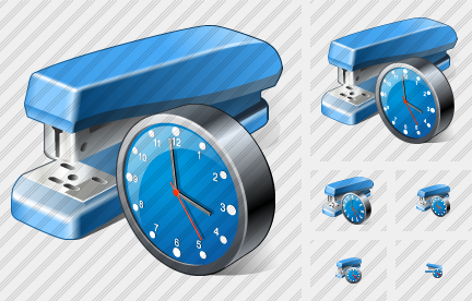 Stapler Clock Icon