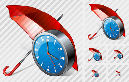 Icone Umbrella Clock