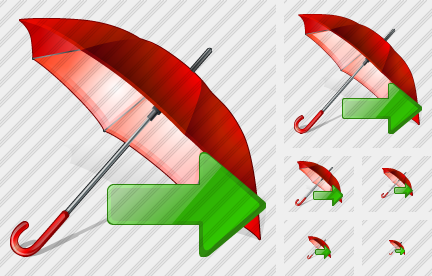 Umbrella Export Icon