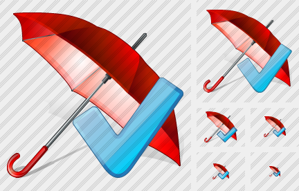 Umbrella Ok Icon