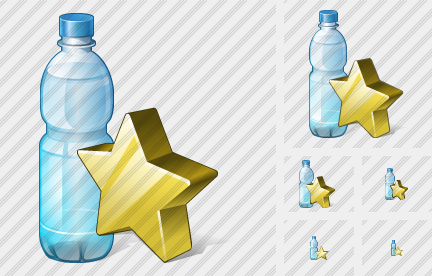 Water Bottle Favorite Icon