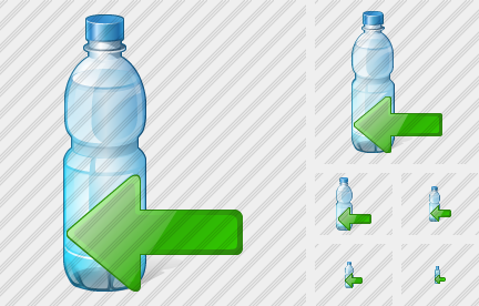 Water Bottle Import Icon