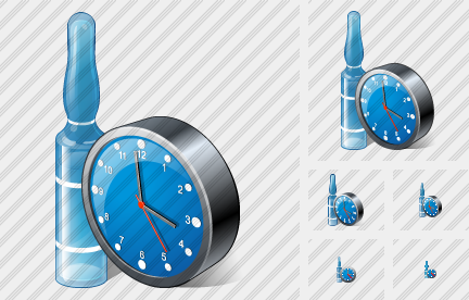 Ampoule Clock Icon