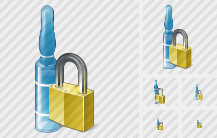 Icone Ampoule Locked