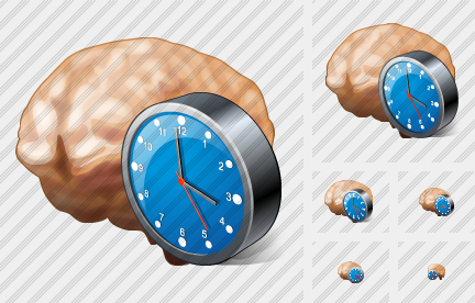 Brain Clock Icon